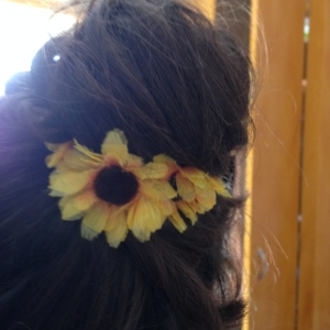Sunflower hairband